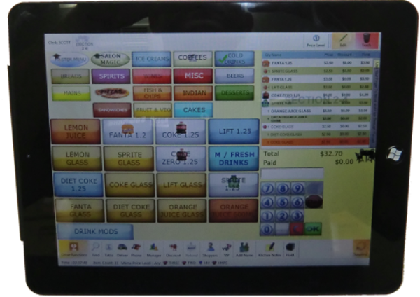Picture of Pos System Hand Held Pos Systems touchscreen point of sale terminal